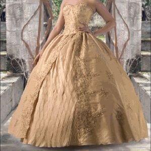 Gold Davinci Belle Ballgown Dress Quinceañera 4